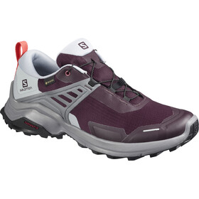 Salomon X Raise GTX Shoes Women, winetasting/quarry/cayenne